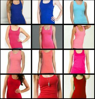 Korean Stylish Tank Tops (Available in red, orange, peach pink, lime green, light blue ,royal blue)