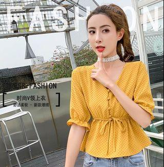 🎀[3 for $26] Mustard Blouse