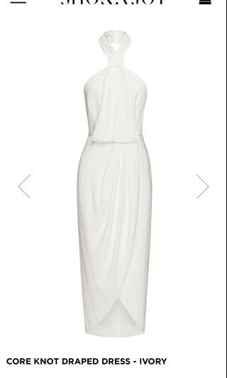 Shona Joy Core Knot White Dress 8