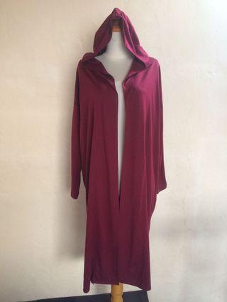 Long cardigan - maroon