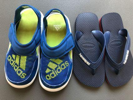 Used boy's slippers (2pairs)