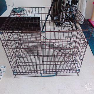 Sangkar Kucing 2.5 Kari  cat cage with wheel