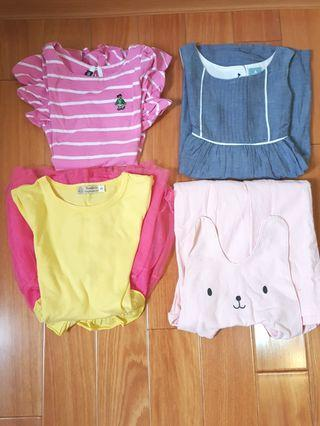 [二手童裝] 4件合售價. 女童洋裝.