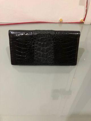Ladies Vintage Genuine Crocodile Skin Wallet
