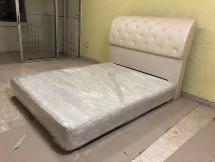 Queen Bed Frame and Mattress King Koil