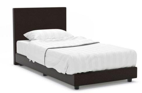 Hester faux leather bed frame and mattress