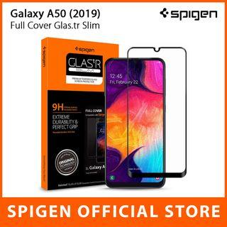 🚚 Spigen Galaxy A50 (2019) Full Cover GLAS.tR Tempered Glass