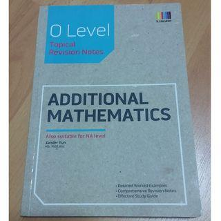 GCE 'O' & 'N' Level Addtional Mathematics Topical Revision Notes