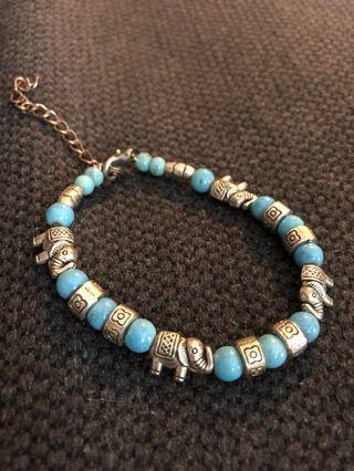 🚚 Elephant bracelet mint/turquoise colour