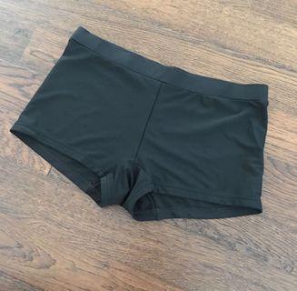Black shorts swim or gym