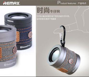 🚚 Remax RB-M5時尚牛仔風無線藍牙音箱 電腦手機迷你可擕式戶外音響低音炮