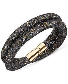 authentic swarovski moondust double bracelet in white