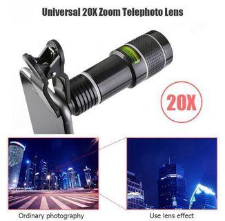 New 20x zoom lens + eye cup for smart phones