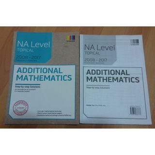 GCE 'N' Level Additional Mathematics Ten Years Series (TYS) WITH Answer Key