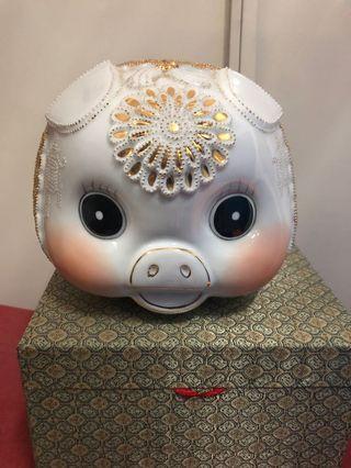 可愛豬仔錢甖連盒