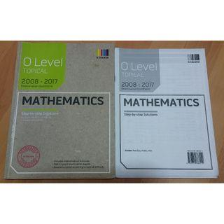 GCE 'O' Level Mathematics Ten Years Series (TYS) WITH Answer Key