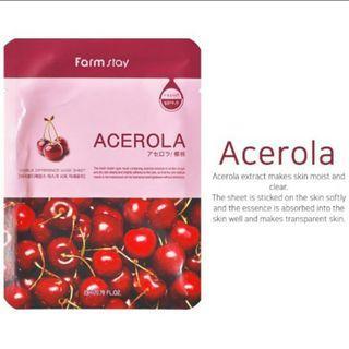 🚚 Korean Whitening Acerola Cherry Brightening Moisturising Masks