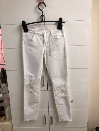 JBRAND白色牛仔褲