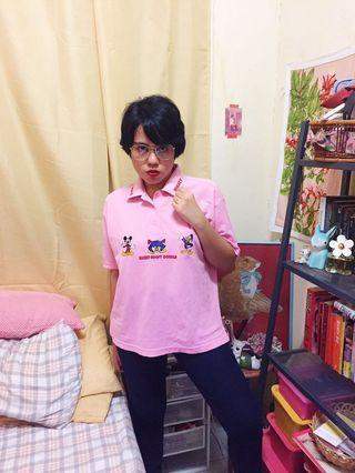 Disney pink polo tshirt