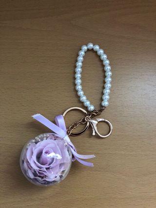Flower Charm Key Chain