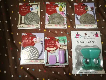 Nail stand & stamp 指甲 套裝