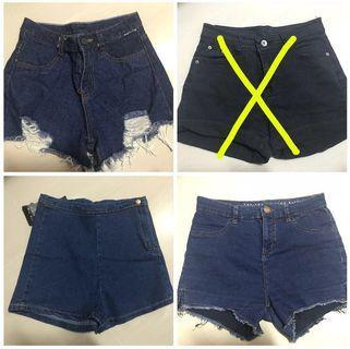denim shorts clearance !!