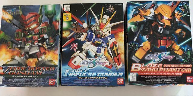 BB戰士 Force impulse Gundam, Verde Buster Gundam, Blaze Zaku Phantom 高達模型