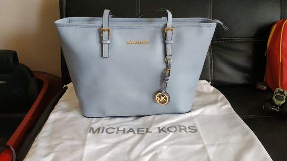 Michael Kors Bag jetset medium pale blue with dustbag