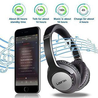 [HG234] Noise Cancelling Headphones, Headphones Over Ear Bluetooth Wireless Foldable Headset Wired Headphones, Stereo Headphones Bluetooth Headset with Mic for PC/Cell Phones/TV (30 Hrs Battery Life)