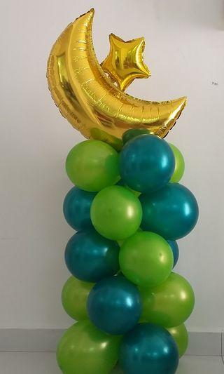 Balloon column - Hari raya decor