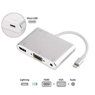 [HG236] 3 in 1 Lightning to HDMI / VGA / Audio for iPhone