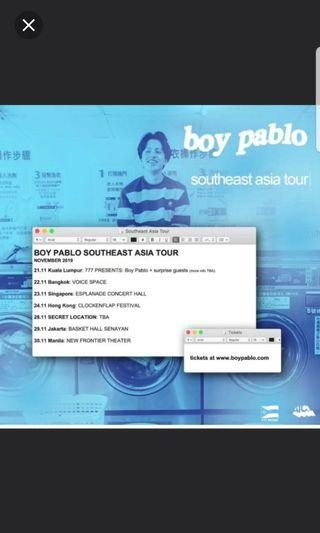 🚚 Boy Pablo singapore concert