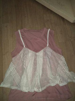 Korean Laced Vest Top