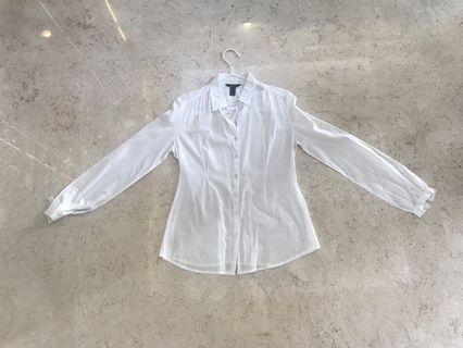 Kemeja Putih Mango Basics size EU Medium