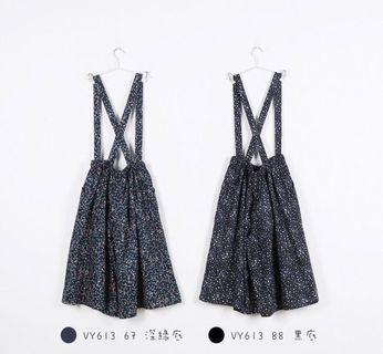 🚚 a la sha吊帶褲裙🎀黒M