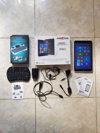 Tablet tab advan windows w80