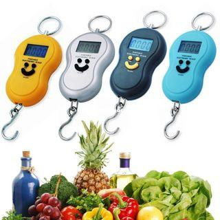 Digital Hanging Scale, 50kg Weight Capacity Battery Powered Electronic Portable Luggage Postal Scale