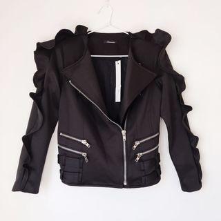 *NEW* Ruffled biker jacket size XS/S