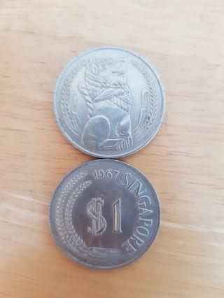 $1 OLD COIN 1967