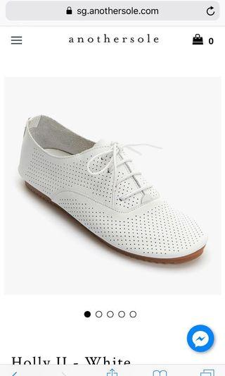 Anothersole white holly sneakers