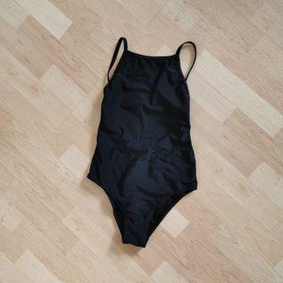 Black Halter One Piece