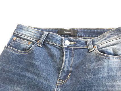 Jeans dengan detail Fray Bottoms