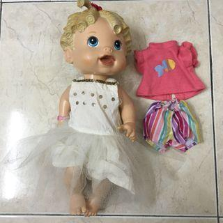 Preloved Baby Alive (BA) can talk free baju sepasang