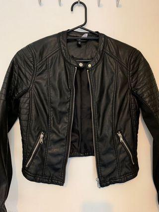 H & M Faux leather jacket black