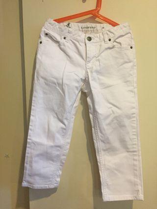 Lands' End White 3/4 Jeans