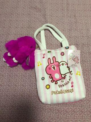 🚚 Handbag with rabbit keychain