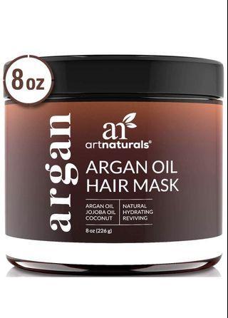 Argan oil hair mask premium hydrating formula - 8 oz/236 ml (new, sealed)