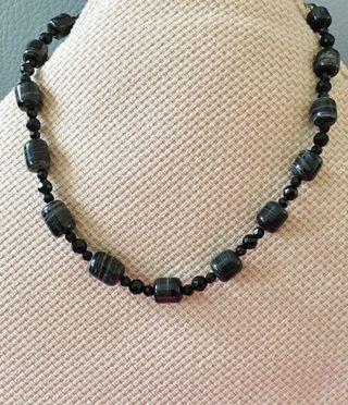 黑色天然石頸鏈