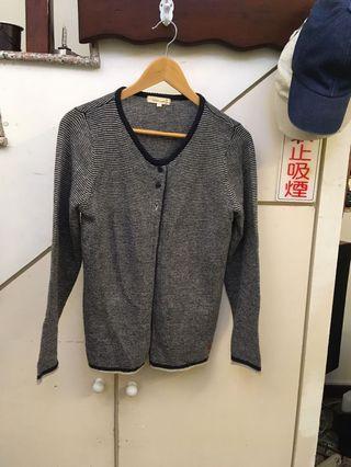 國外品牌灰白條紋罩衫