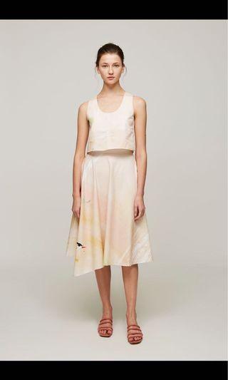 OSN Dune Cotton Asymmetrical Skirt